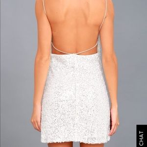 Lulu's Backless Sequin Mini Dress